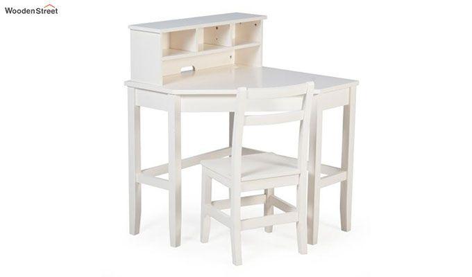 Athena Corner Desk and Reversible Hutch (White Finish)-9