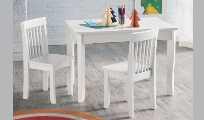 Daffy Kids Table With Chair Set (White Finish)-1