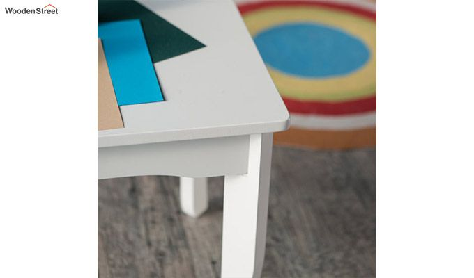 Daffy Kids Table With Chair Set (White Finish)-5
