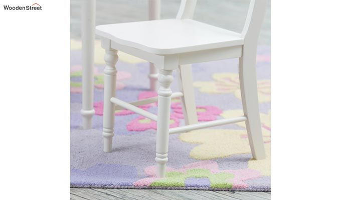 Dexter Kids Round Table with 2 chair set (White Finish)-6