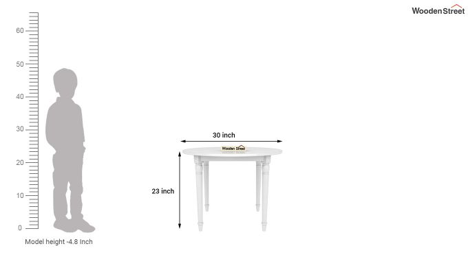 Dexter Kids Round Table with 2 chair set (White Finish)-8
