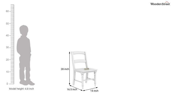 Dexter Kids Round Table with 2 chair set (White Finish)-9