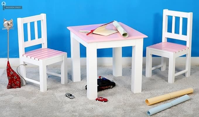 Tinker Kids Study Table (Pink Color)-1