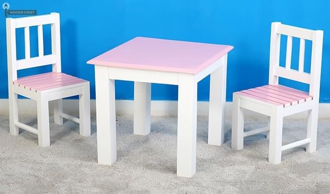 Tinker Kids Study Table (Pink Color)-2