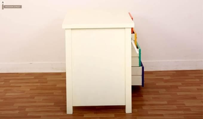 Pixie Kids Study Table With Drawers (White Finish)-5