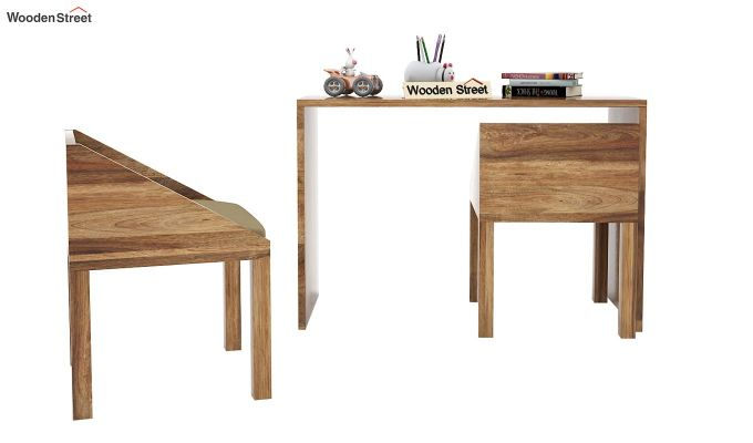 Scoop Kids Study Table Set (Natural Finish)-3