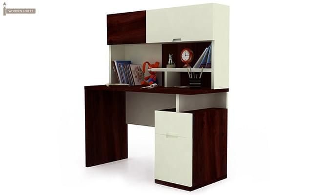 Tedd Kids Study Table With Storage (Mahogany Finish)-2