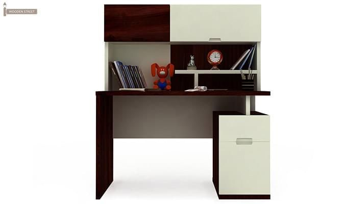 Tedd Kids Study Table With Storage (Mahogany Finish)-3