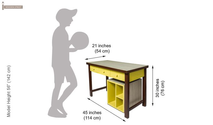 Zini Kids Study Table (Yellow)-5