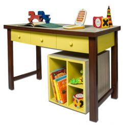 Zini Kids Study Table (Yellow)
