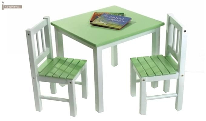 Tinker Kids Study Table (Green Color)-1