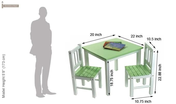 Tinker Kids Study Table (Green Color)-2
