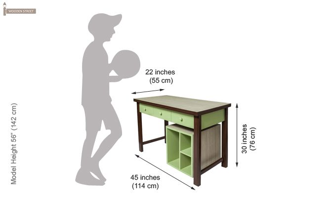 Zini Kids Study Table (Green)-5