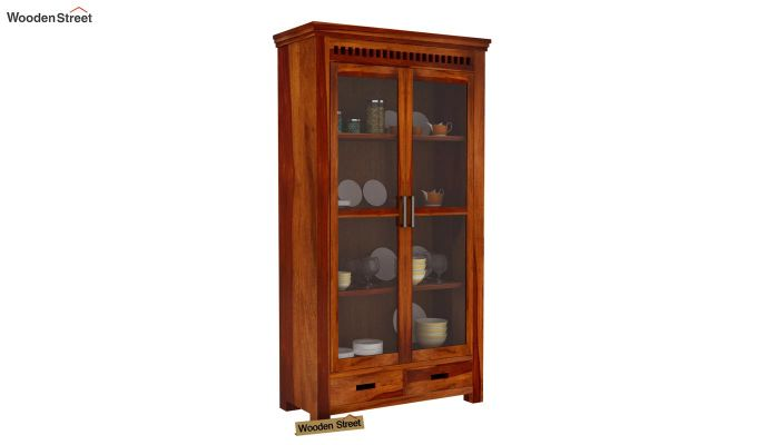 Adolph Kitchen Cabinet (Honey Finish)-2