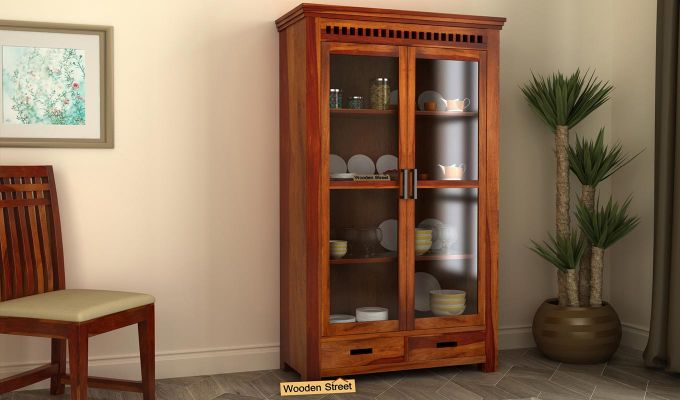 Adolph Kitchen Cabinet (Honey Finish)-1