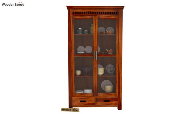 Adolph Kitchen Cabinet (Honey Finish)-3