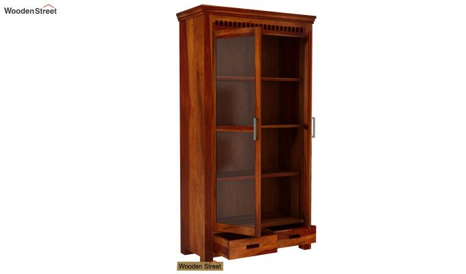 Adolph Kitchen Cabinet (Honey Finish)-4