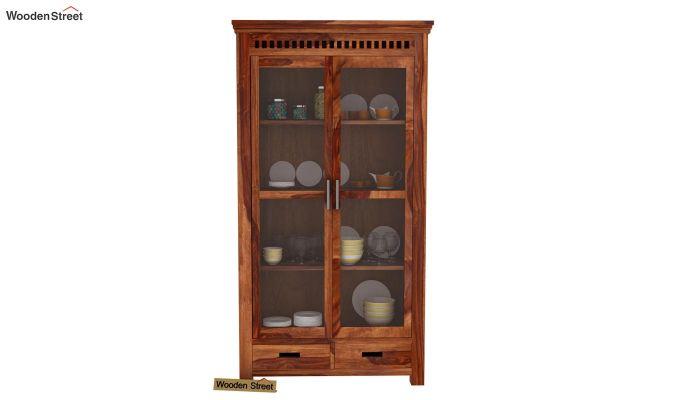Adolph Kitchen Cabinet (Teak Finish)-2