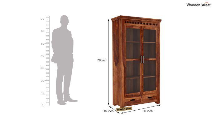 Adolph Kitchen Cabinet (Teak Finish)-6