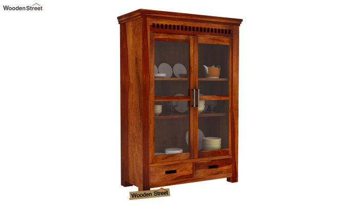 Adolph Small Kitchen Cabinet (Honey Finish)-2