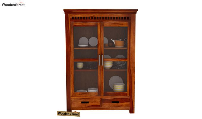 Adolph Small Kitchen Cabinet (Honey Finish)-3