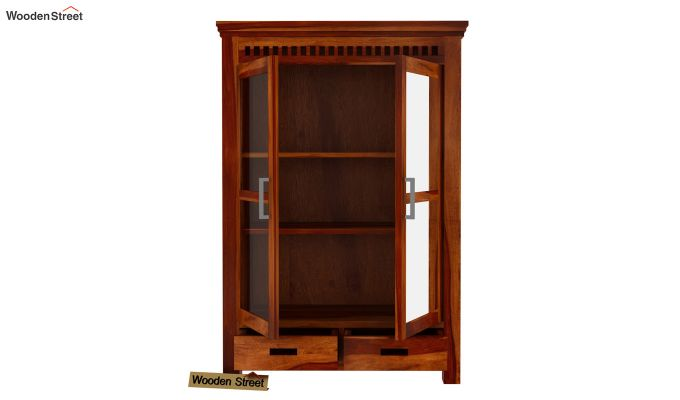 Adolph Small Kitchen Cabinet (Honey Finish)-5