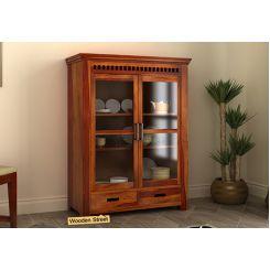 Adolph Small Kitchen Cabinet (Honey Finish)