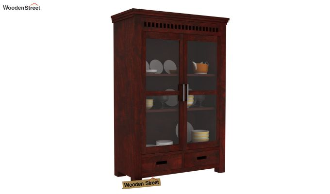 Adolph Small Kitchen Cabinet (Mahogany Finish)-1