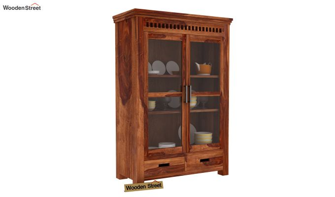 Adolph Small Kitchen Cabinet (Teak Finish)-1