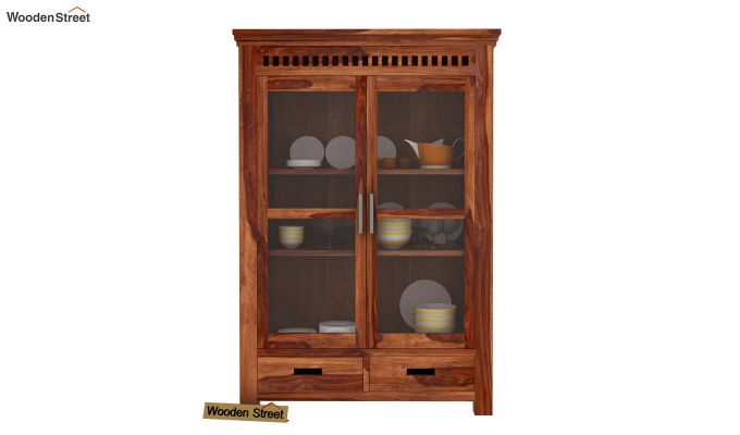 Adolph Small Kitchen Cabinet (Teak Finish)-2