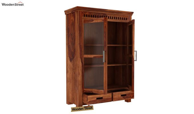 Adolph Small Kitchen Cabinet (Teak Finish)-3