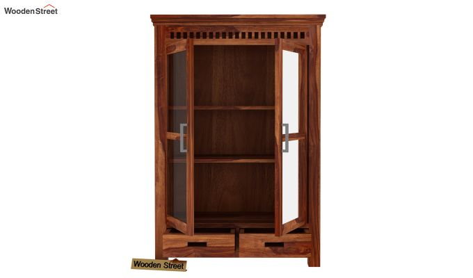 Adolph Small Kitchen Cabinet (Teak Finish)-4