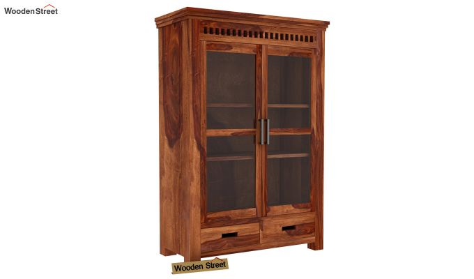 Adolph Small Kitchen Cabinet (Teak Finish)-5