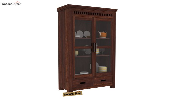 Adolph Small Kitchen Cabinet (Walnut Finish)-1