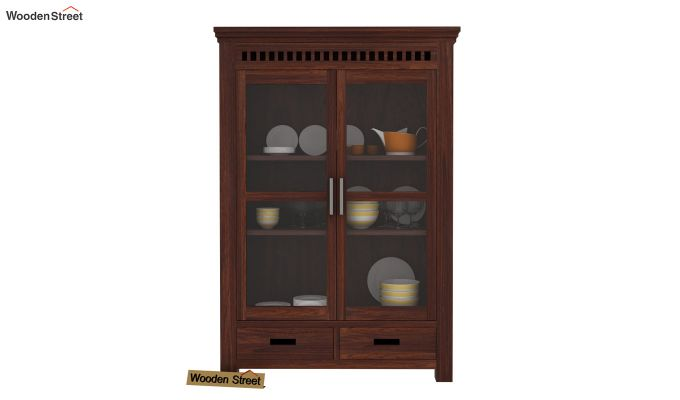 Adolph Small Kitchen Cabinet (Walnut Finish)-2
