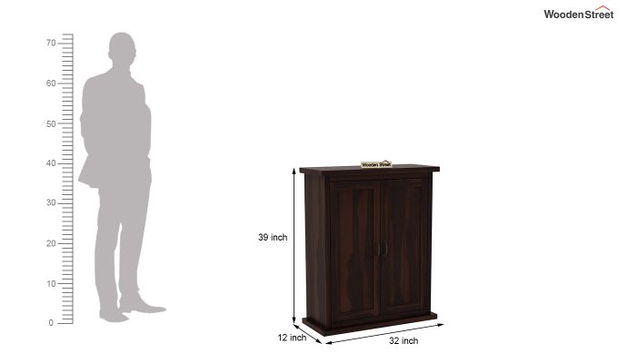 Apex Kitchen Cabinet (Walnut Finish)-6