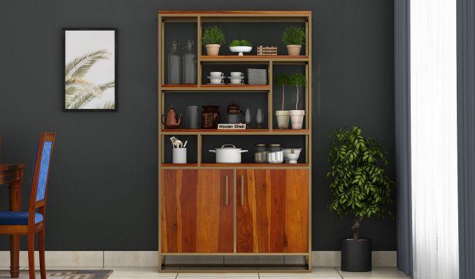 Atris Kitchen Cabinet (Honey Finish)-2