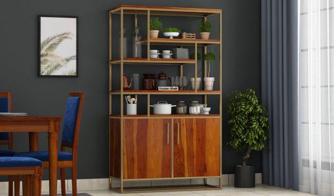 Atris Kitchen Cabinet (Honey Finish)-1