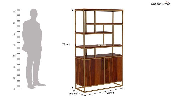 Atris Kitchen Cabinet (Honey Finish)-6