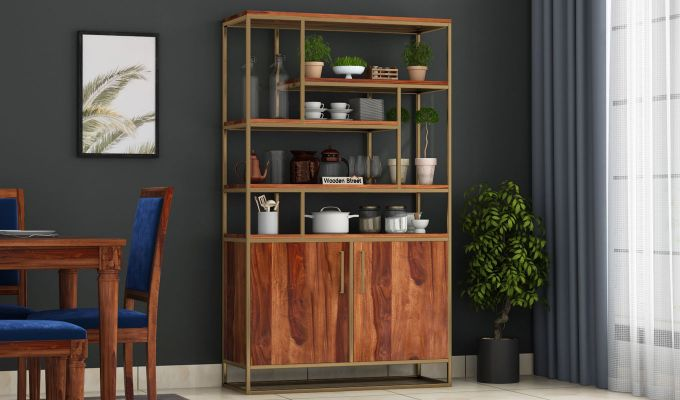 Atris Kitchen Cabinet (Teak Finish)-1