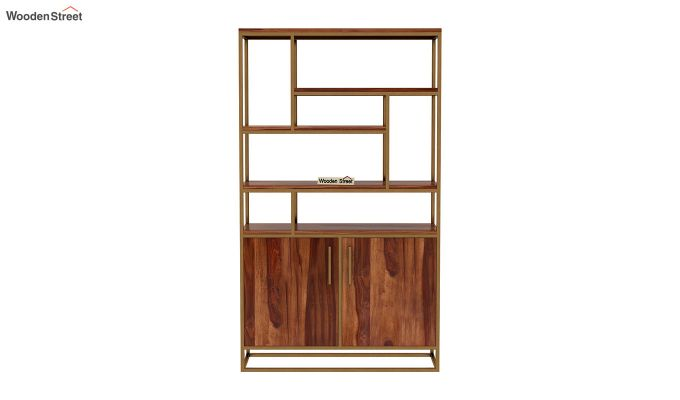 Atris Kitchen Cabinet (Teak Finish)-4