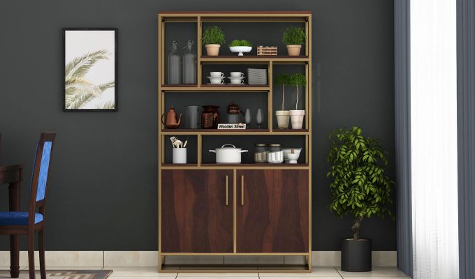 Atris Kitchen Cabinet (Walnut Finish)-2