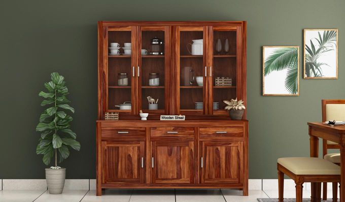 Bago Kitchen Cabinet (Teak Finish)-2