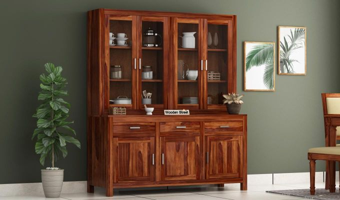 Bago Kitchen Cabinet (Teak Finish)-1