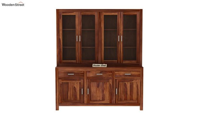 Bago Kitchen Cabinet (Teak Finish)-4