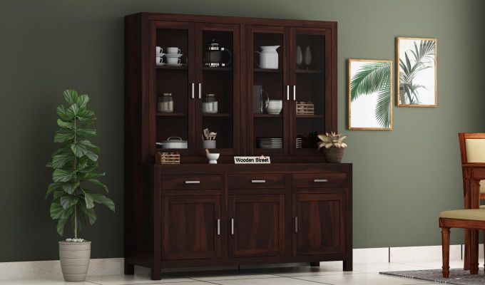 Bago Kitchen Cabinet (Walnut Finish)-1