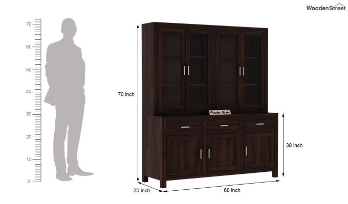 Bago Kitchen Cabinet (Walnut Finish)-7