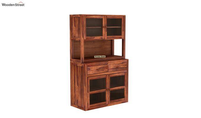 Darius Kitchen Cabinet (Honey Finish)-2