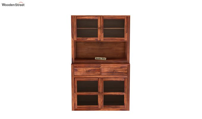 Darius Kitchen Cabinet (Honey Finish)-3