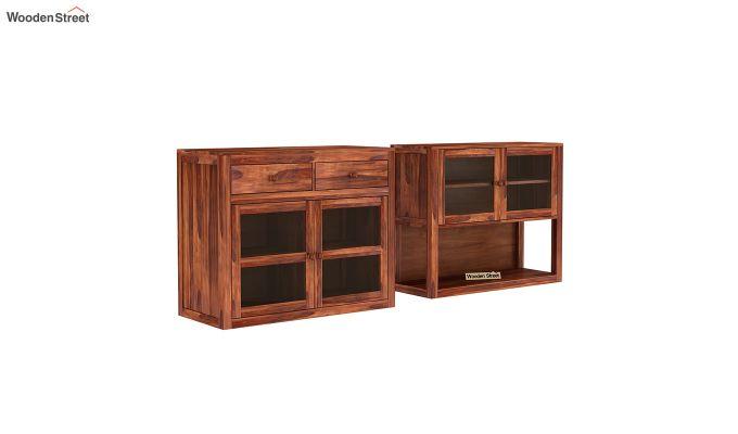 Darius Kitchen Cabinet (Honey Finish)-4